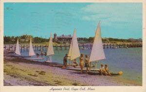 Massachusetts Cape Cod Hyannis Port Getting Ready For A Sailboat Race 1965