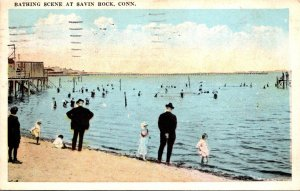 Connecticut Savin Rock Bathing Scene 1929