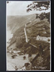 Devon LYNMOUTH Countisbury Hill & Hotel c1926 RP Postcard by E A Sweetman 2186