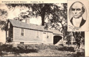 New Hampshire Franklin Birthplace Of Daniel Webster Albertype