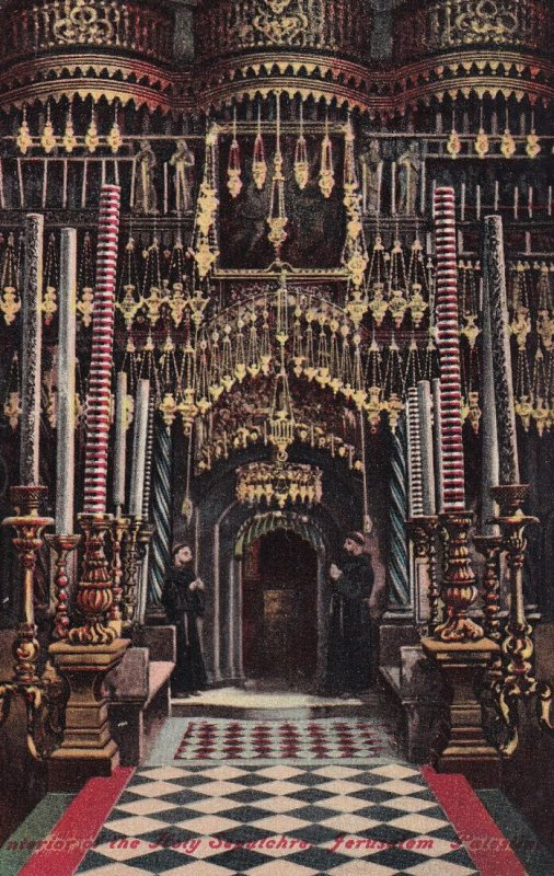 JERUSALEM, Israel, 1900-1910s; Interior Of The Holy Sepulchre