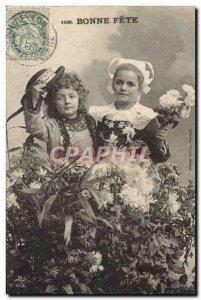 Old Postcard Fantasy Children Folklore Brittany Costume