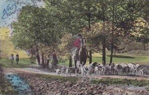 North Carolina Greensboro Sedgefield Inn Fox Hunting 1952