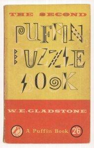 Puffin Puzzle Book W.E. Gladstone 1958 Book Postcard