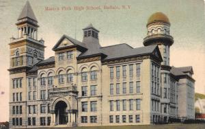 Masten Park High School, Buffalo, New York, Early Postcard, Used in 1907