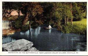 Pennsylvania Annville Recreation On The Quittapahilla Near Lebanon Valley Col...