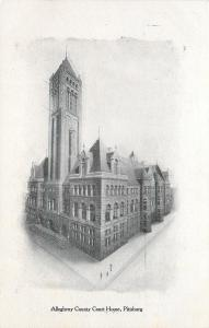 Pittsburgh Pennsylvania~Allegheny County Court House~1905 Pittsburg Press PC