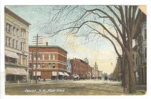Main Street (Dirt), Concord, New Hampshire, 1900-1910s
