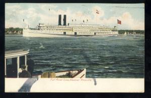 Fall River, Massachusetts/Mass/MA Postcard, Steamer Priscilla, Fall River Line