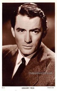 Gregory Peck Movie Star Actor Actress Film Star Postcard, Old Vintage Antique...