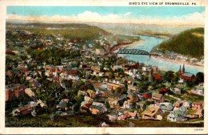 Pennsylvania Brownsville Birds Eye View 1926 Curteich