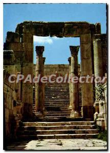 Postcard Modern Jerash Cathedral's Steps Columns Kingdom of Jordan