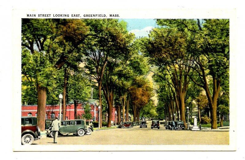 MA - Greenfield. Main Street looking East