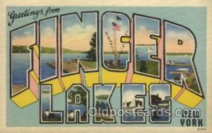 Finger lakes, New York, USA Large Letter Towns Postcard Postcards  Finger Lak...