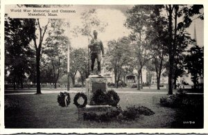 Massachusetts Mansfield World War Memorial and Common Dexter Press