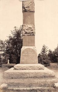 D29/ Hinckley Minnesota Real Photo RPPC Postcard c1920s Fire Disaster Monument 1