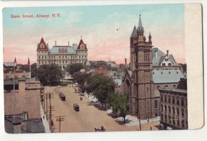 P756 1908 birds eye view state street albany new york