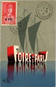 PC CPA EXPOSITION, FOIRE DE PARIS SON PHILATELIQUE, Vintage Postcard (b13778)