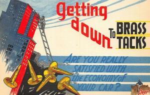 Glenn Electric Company 1936 Automobile Repair and Consultation Postcard