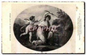 Old Postcard British XVIII Century Prints From Cupid by Euphrosine reproducti...