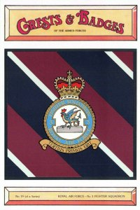 Postcard RAF Royal Air Force No.3 Fighter Squadron Crest Badge No.19 NEW BK19