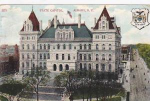 State Capitol, Coat of Arms, Albany, New York, PU-1908