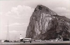 Britsh European Airways Viscount Taxying At Gibraltar Real Photo