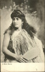 A Maori Native Beauty Woman c1905 Postcard
