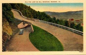 Virginia Roanoke The Loop On Mill Mountain 1938
