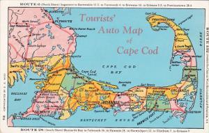 Massachusetts Tourist Map Of Cape Cod