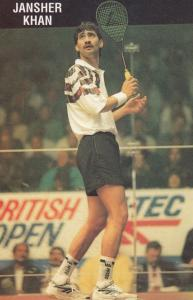 Jansher Khan British Tennis Open Photo Plain Back Postcard