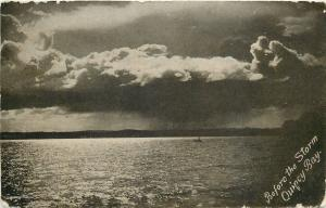 Massachusetts~Quincy Bay Before The Storm~1906 PC