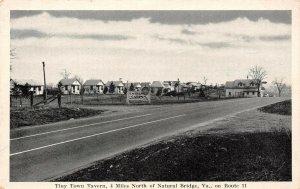 LP58 Natural Bridge  Virginia Postcard Tiny Town Tavern Route 11