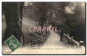 Old Postcard Paris Buttes Chaumont Allee Picturesque