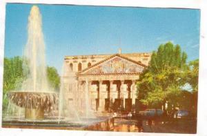 The main facade of the Degollado Theater, Guadalajara, Jal.,  Mexico, 40-60s