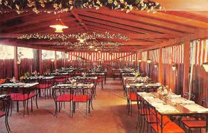 Denver Colorado 1950-60s Postcard Patio Of Apple Tree Folks Restaurant
