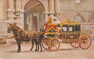 Royal Mews. Buckingham Palace.  Horses Tuck Oilette PC # 3007