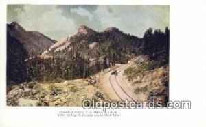 Rounding The Devils Slide, Colorado Springs, Colorado, CO USA Trains, Railroa...