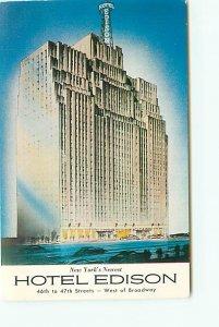 Buy Postcard Hotel Edison New York