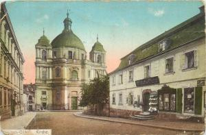 Czech R Deutsch Gabel Jablonne Podjestedi Kirchplatz Laden Gasthof bei Hermsdorf