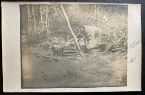 Mint France Real Picture Postcard RPPC WWI abandoned canon