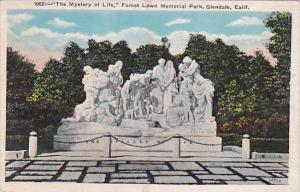 California Glendale The Mystery Of life Forest Lawn Memorial Park