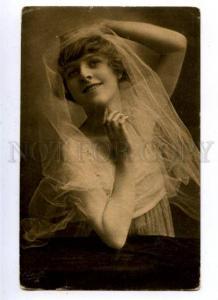 161706 BELLE Woman BRIDE Vintage PHOTO TUCK #4856 PC