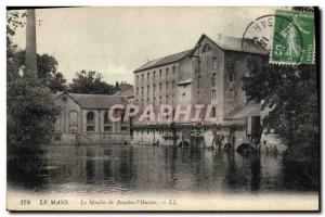 Postcard Old water mill Le Mans mill Bouches s & # 39Huisne