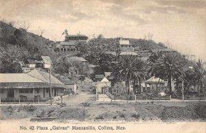 Colima Mexico Plaza Galvan Manzanillo Scenic View Postcard JJ649890