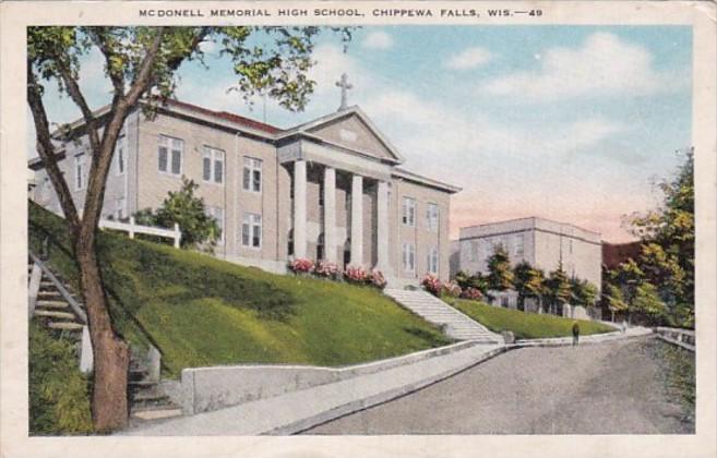 McDonnell Memorial  High School Chippewa Falls Wisconsin 1953