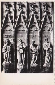 Switzerland Fribourg Porche de la Cathedrale Les Apotres Real Photo