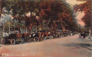 Auto Row, Savin Rock, Connecticut, Early Postcard, Used in 1910