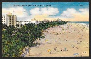 Beach at Miami Beach Florida Unused c1930s