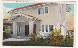 California Los Angeles Dorothy Phillips and Her Home